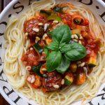 spaghetti rode saus met vegan ballen