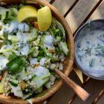 Frisse salade met parelcouscous