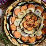 Feestelijke vegan groentetaart